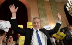 Austrijos kandidatas į prezidentus giria piliečių proeuropietišką pasirinkimą
