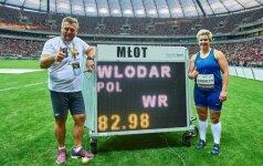 Lenkė pagerino kūjo metimo pasaulio rekordą