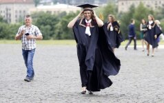 A Lithuanian student during graduation