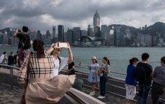 Turistai Honkonge