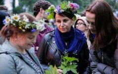 Vilniečiai Verkių parke atšventė tradicinę Rasos šventę