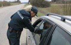 Į kolegės gimtadienį skubėjusi vilnietė neteks vairuotojo pažymėjimo