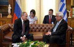 V. Putinas Graikijoje tariasi dėl investicijų