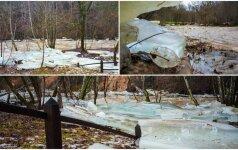 Tokio ledonešio jau seniai nebuvo: sukurtas įspūdingas gamtos paveikslas