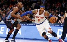 NBA lygos mače siautėjęs C. Anthony pelnė net 62 taškus