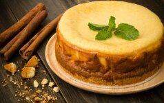 Labai populiarus: sūrio pyragas vos iš trijų ingredientų VIDEO