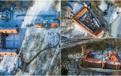 Kvapą gniaužianti Panemunė: žiemiški vaizdai iš paukščio skrydžio