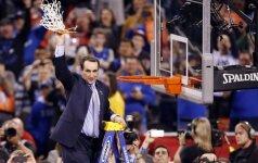 Duke'o universiteto trenerio M. Krzyzewskio sąskaitoje – tūkstantoji pergalė