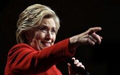 H. Clinton brėžia raudoną liniją Maskvai: nereikia lepinti V. Putino