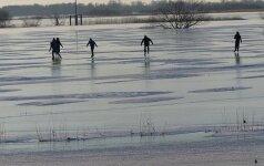 Potvynių krašte gamta sukūrė įspūdingo dydžio čiuožyklą