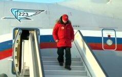 V. Putinas Arkties vandenyno salyne domėjosi apleistų karinių, oro pajėgų ir radarų bazių atstatymo darbais