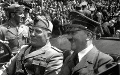 """Po """"atgimusio"""" Adolfo Hitlerio finansinės sėkmės atėjo Benito Mussolinio eilė"""