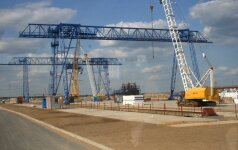 Astravets NPP construction site