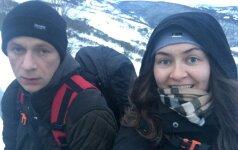 Šlapia ir snieguota kelionė išmokė: svarbiausia kelyje - bendrystė