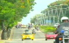 Motociklininkas iš Kubos pasiekė rekordą važiuodamas užrištomis akimis