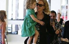 Nicole Kidman su dukrele Faith