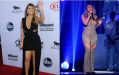 Prabangioje puotoje Mariah Carey pasirodė nei nuoga, nei apsirengusi FOTO
