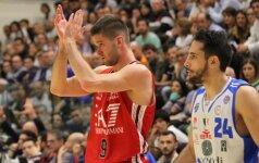 """M. Kalnietis ir """"Emporio Armani"""" vėl išlygino pusfinalio rezultatą Italijoje"""