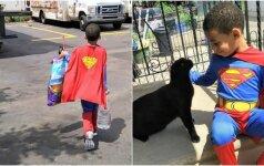 Mažas berniukas susirūpino benamių kačių likimu: tapo jų gelbėtoju ir superherojumi