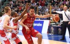 """Italijos taurės """"lietuviškame"""" pusfinalyje pergale džiaugėsi M. Kalnietis"""