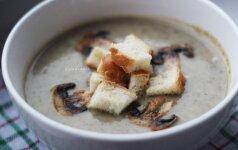 Nesušalkite: trinta pievagrybių sriuba