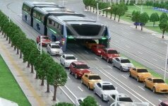 Pristatytas unikalus projektas – autobusas, kuriam spūstys netrukdo