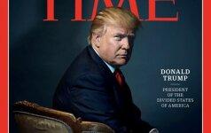 """D. Trumpas tapo leidinio """"Time"""" metų žmogumi"""