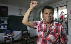 Filipinų prezidentas sako tai, už ką Lietuvoje būtų pasmerktas