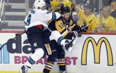 """NHL finalo starte D. Zubrus – nubaustas, o """"Sharks"""" apmaudžiai pralaimėjo"""