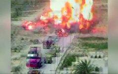 Vaizdo stebėjimo kameros užfiksavo sprogimą Sinajuje