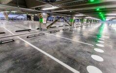 """""""Megos"""" statybos artėja prie pabaigos – atidaryta daugiaaukštė parkavimo aikštelė"""