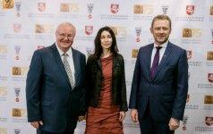 Iš kairės Linas Zaikauskas su žmona Margarita bei tuomečiu kultūros ministru Šarūnu Biručiu