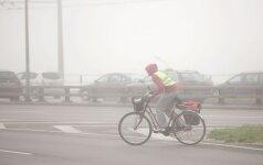 Vietomis eismo sąlygas sunkins rūkas