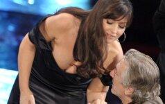 M. Bellucci savo pavojinga iškirpte vos neapakino R. De Niro (FOTO)