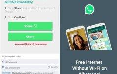 WhatsApp apgaulė