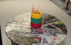 Idėja taupiems: kaip iš senų laikraščių pasigaminti staliuką