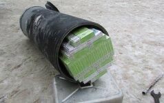 Muitininkai pašiurpę: sulaikytos kontrabandinės cigaretės, persigėrusios dujomis