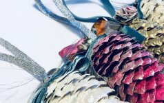Įkvepianti kalėdinio dekoro idėja: kitokie kankorėžiai