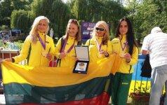 Živilė Vaiciukevičiūtė, Brigita Virbalytė, Kristina Saltanovič ir Monika Vaiciukevičiūtė / Foto: lengvoji.lt