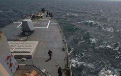 Persijos įlankoje JAV karo laivas paleido šūvį, kad perspėtų Irano laivą