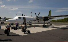 """""""airBaltic"""" orlaivis Vilniaus oro uoste"""