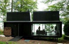 Surenkamas svajonių namelis gamtos prieglobstyje stebina modernumu
