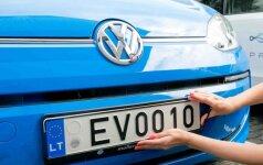 Spark elektromobiliai gavo naujuosius registracijos numerius