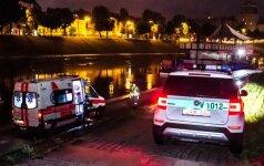 Vilniuje iš Neries ištraukti kuprinę bandęs žmogus rado negyvą vyrą