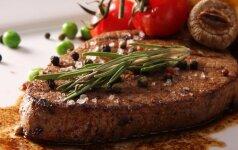 Palepinkite mylimąjį: jautienos didkepsnius su svogūnų Tarte tatin ir spanguolių padažu