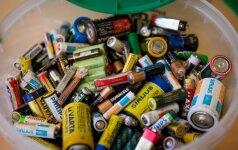 3 priežastys, kodėl baterijoms ne vieta šiukšlių konteineryje