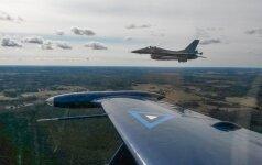 Belgų kariškiai paviešino nuotraukas iš oro policijos misijos Baltijos šalyse