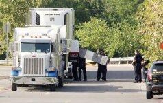 Teksase sunkvežimyje rasti  mirę ir leisgyviai migrantai