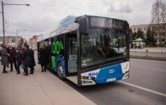Elektrinis autobusas Solaris Panevėžyje