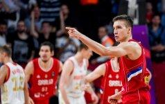 Nepalaužiamas serbų karys - didelis Slovėnijos galvos skausmas prieš finalą